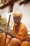 Holy Sadhu men in India Royalty Free Stock Image