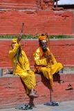 Holy Sadhu men in Kathmandu, Nepal Royalty Free Stock Photo