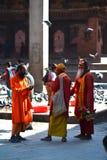 Holy sadhu men in Kathmandu, Nepal Royalty Free Stock Images