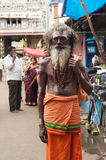 Holy Sadhu men near Sri Ranganathaswamy Temple. South India, Tamil Nadu Stock Photos