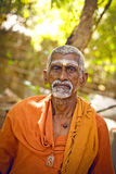 Holy Sadhu men  in saffron Royalty Free Stock Photography