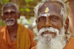 Holy Sadhu men  in Shiva Temple Stock Photos