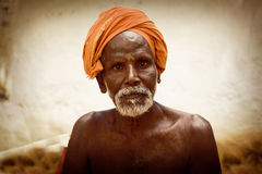 Holy Sadhu men  in Shiva Temple Royalty Free Stock Image