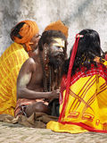 Holy sadhu in Nepal Royalty Free Stock Images