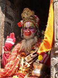 Holy sadhu in Nepal royalty free stock photography