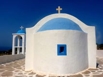 Holy sanctuary Kos Greece Europe. Ble sky and greek churches Kos Island Greece Stock Images
