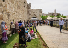 Holy Saturday in Jerusalem Stock Photography