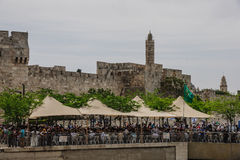 Holy Saturday in Jerusalem Royalty Free Stock Photos