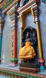 Holy Sculpture at colourful Mahamariamman temple on Silom Road Bangkok , Famously called as Wat Khaek ,  Uma devi temple. Famous three century old Hindu temple Stock Photos