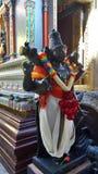Holy Sculpture at colourful Mahamariamman temple on Silom Road Bangkok , Famously called as Wat Khaek ,  Uma devi temple. Famous three century old Hindu temple Stock Photography