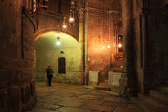 Holy Sepulcher Church interior. Royalty Free Stock Photography