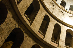 Holy Sepulcher in Jerusalem. In Israel tample of the Gods coffin Royalty Free Stock Photos