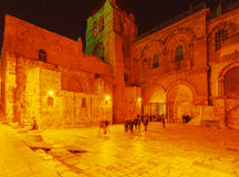 Holy Sepulchre Cathedral at Night, Jerusalem Royalty Free Stock Photo