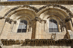 Holy Sepulchre Church facade, Jerusalem Stock Image