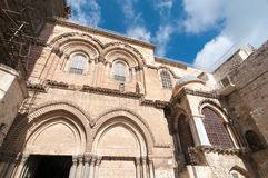 Holy Sepulchre in Old City of Jerusalem Stock Photos