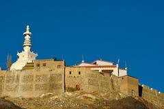 Holy Shanti Stupa in Leh, Ladakh Stock Image