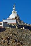 Holy Shanti Stupa in Leh, Ladakh Royalty Free Stock Image