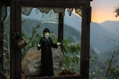 A Roadside shrine close to the Qadisha Valley in Lebanon that ha stock images