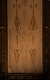 The Holy Shroud. Detail of a copy of the Holy Shroud of Turin, Italy Royalty Free Stock Image