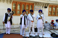 Holy sikh singers Stock Images