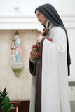 Holy Sister. Statue of a holy sister Stock Image