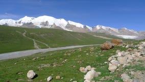 Holy snow mountain Anymachen on Tibetan Plateau. Qinghai, China Royalty Free Stock Image