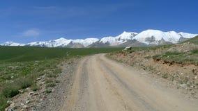Holy snow mountain Anymachen on Tibetan Plateau. Qinghai, China Stock Images