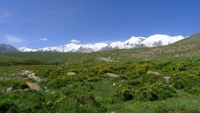 Holy snow mountain Anymachen on Tibetan Plateau. Qinghai, China Royalty Free Stock Photos