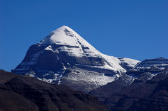 Holy Snow Mountains Kailash in Tibet Royalty Free Stock Photography