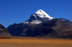 Holy snow mountains in Tibet Royalty Free Stock Images