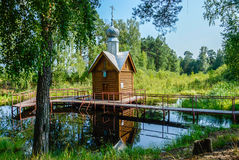 The Holy source of the Monk Tikhon Luisago. Village timirjazevo Ivanovo region Royalty Free Stock Images