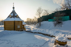 The Holy source of the Tikhvin icon of the Mother of God. Royalty Free Stock Photos