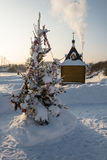 The Holy source of the Tikhvin icon of the Mother of God. Stock Image