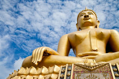 Holy spirit. Buddha statue in the Thai temple,Thailand Royalty Free Stock Images