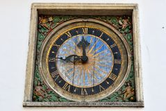 Holy Spirit Church clock, Tallinn. Tallinn Holy Spirit Church clock Royalty Free Stock Images