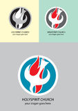 Holy spirit church logo Stock Photo