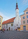 Holy Spirit Church in the Old city of Tallinn in Estonia Royalty Free Stock Images