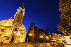 Holy Spirit Church on Old Market Square in Torun Stock Photo