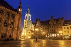 Holy Spirit Church in Torun at night. Torun, Kuyavian-Pomeranian Voivodeship, Poland Stock Images