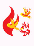 Holy spirit fire. Art vector illustration Royalty Free Stock Photo