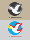 Holy spirit fire vector. Holy spirit fire icon, art vector logo design Royalty Free Stock Photos