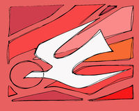 Holy Spirit. Hand drawn vector illustration or drawing of a dove bird representing the Holy Spirit and fire flames on a red background Royalty Free Stock Image