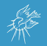 Holy Spirit Icon Sketch and Line Art Royalty Free Stock Photo