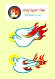 Holy spirit. Icons, art vector design Royalty Free Stock Photos