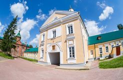 Holy Spirit Monastery in Borovichi, Russia. Monaster Royalty Free Stock Photography