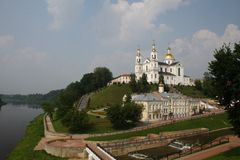 The Holy Spirit Monastery and Cathedral of the Assumption. Vitebsk Royalty Free Stock Photography