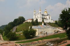 The Holy Spirit Monastery and Cathedral of the Assumption. Vitebsk Royalty Free Stock Photos