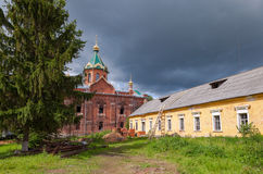 Holy Spirit Monastery in Novgorod region, Russia Stock Photo