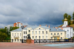 Holy Spirit nunnery and Pushkinsky bridge, Vitebsk Royalty Free Stock Photo