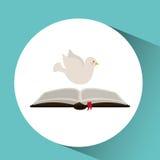 Holy spirit open bible icon religion design. Illustration Royalty Free Stock Photos
